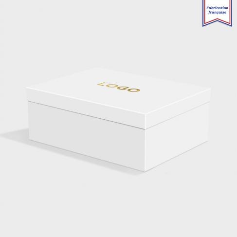 Boîte cloche Cool Grey avec dorure