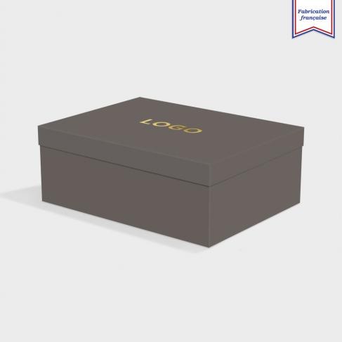 Boîte cloche Dark Grey avec dorure