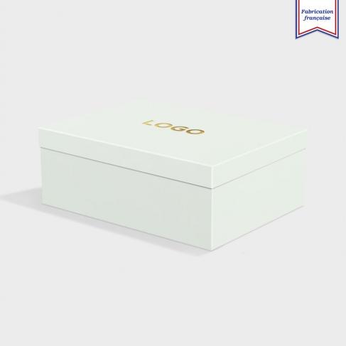 Boîte cloche Powder Green avec dorure