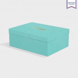 Boîte cloche Turquoise avec dorure